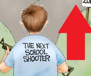 school shooter cartoon