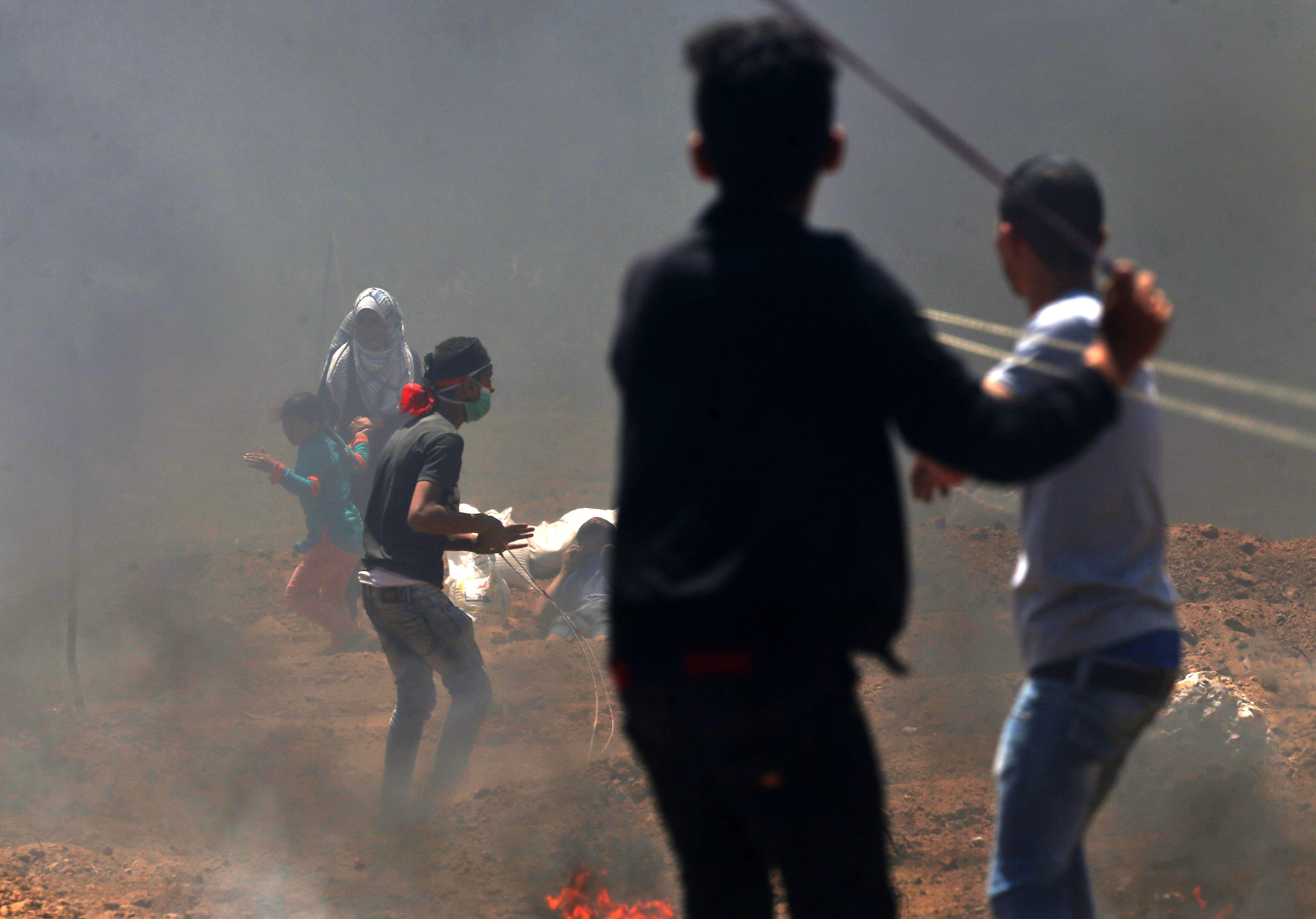 Hamas Palestinian rioters