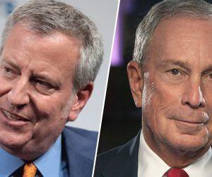De Blasio Bloomberg