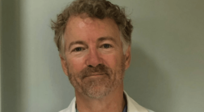 Rand Paul Has Negative For Coronavirus And Is Now Treating COVID-19 Patients
