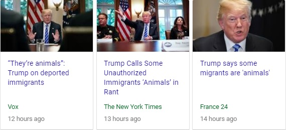 Trump animals Comment