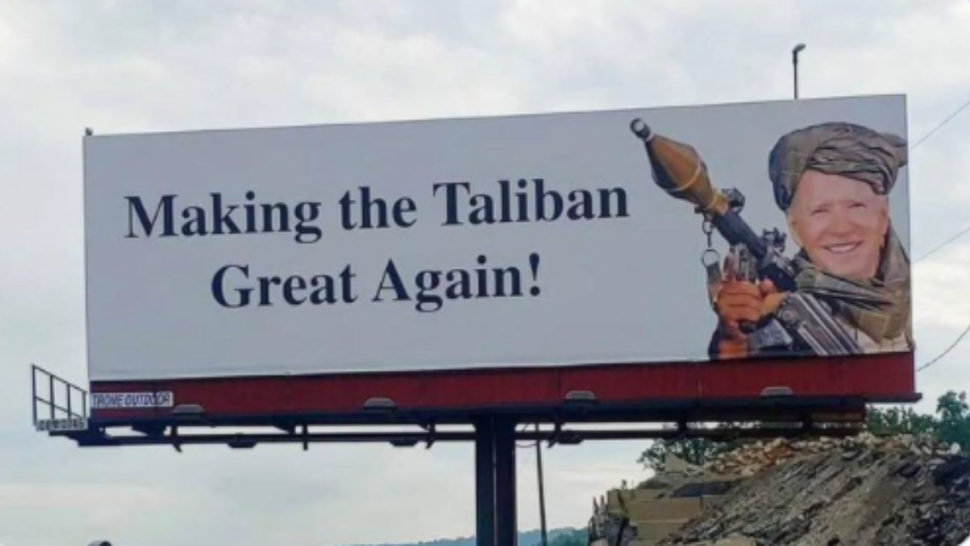 Former Republican Official Behind Pennsylvania Billboards Mocking Biden For 'Making The Taliban Great Again'
