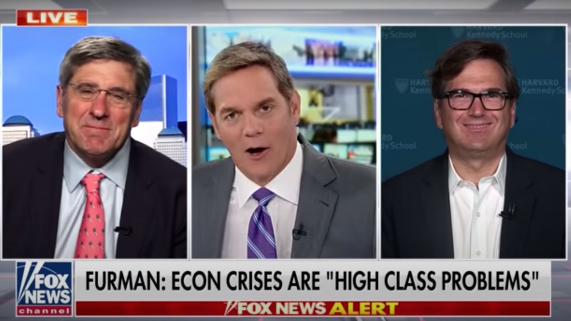 Fox News' Bill Hemmer Blasts Guest Who Called Inflation, Supply Chain Chaos 'High Class Problems'